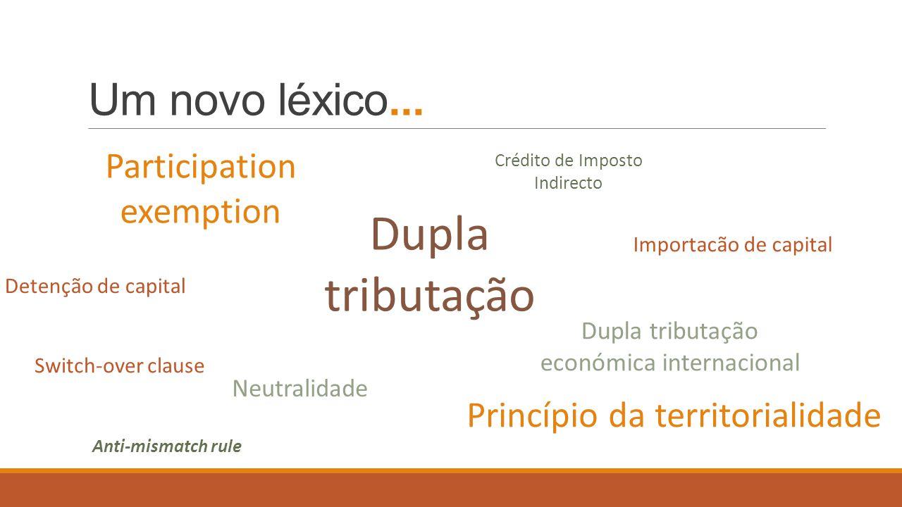 Uma preocupação unânime… Portugal será dos poucos países da OCDE que, regra-geral, não elimina a dupla tributação económica internacional; por outras palavras… … os lucros dos empresários portugueses gerados no estrangeiro sao tributados duas vezes!