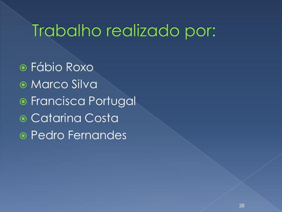 Fábio Roxo Marco Silva Francisca Portugal Catarina Costa Pedro Fernandes 28