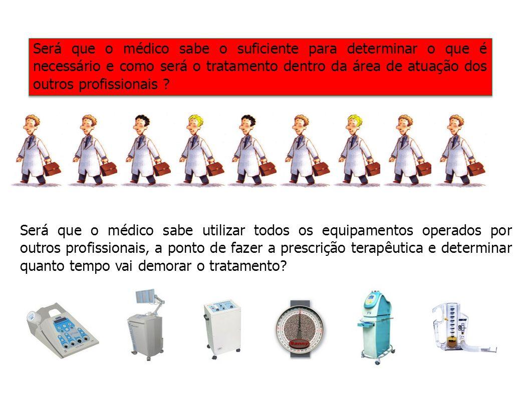 Será que o médico sabe o suficiente para determinar o que é necessário e como será o tratamento dentro da área de atuação dos outros profissionais ? S