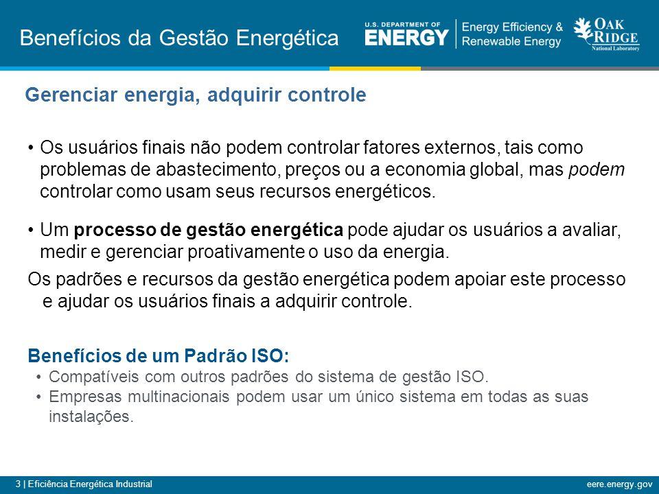 3 | Eficiência Energética Industrialeere.energy.gov Os usuários finais não podem controlar fatores externos, tais como problemas de abastecimento, preços ou a economia global, mas podem controlar como usam seus recursos energéticos.