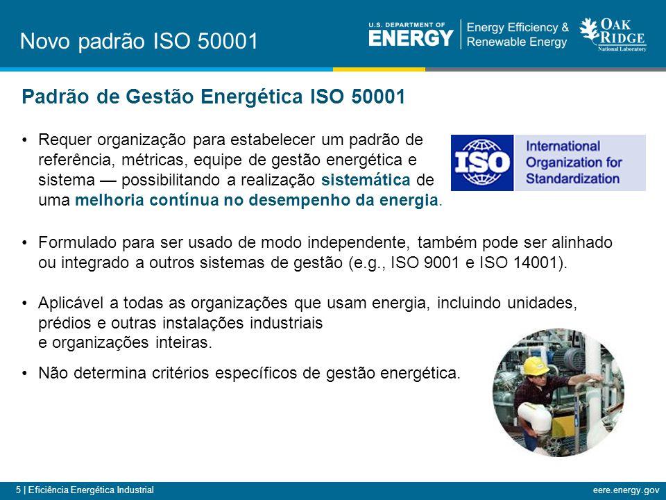 5 | Eficiência Energética Industrialeere.energy.gov Requer organização para estabelecer um padrão de referência, métricas, equipe de gestão energética e sistema possibilitando a realização sistemática de uma melhoria contínua no desempenho da energia.