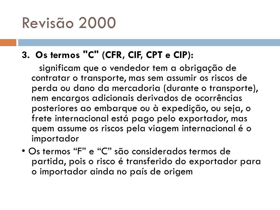 Revisão 2000 3. Os termos