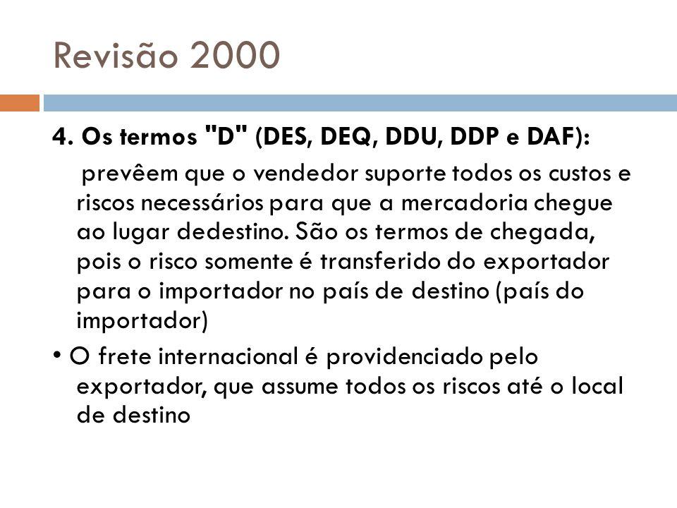 Revisão 2000 4. Os termos