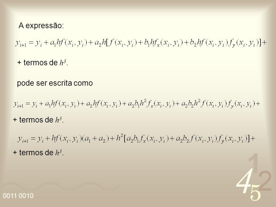 4 2 5 1 0011 0010 + termos de h 3. A expressão: pode ser escrita como + termos de h 3.
