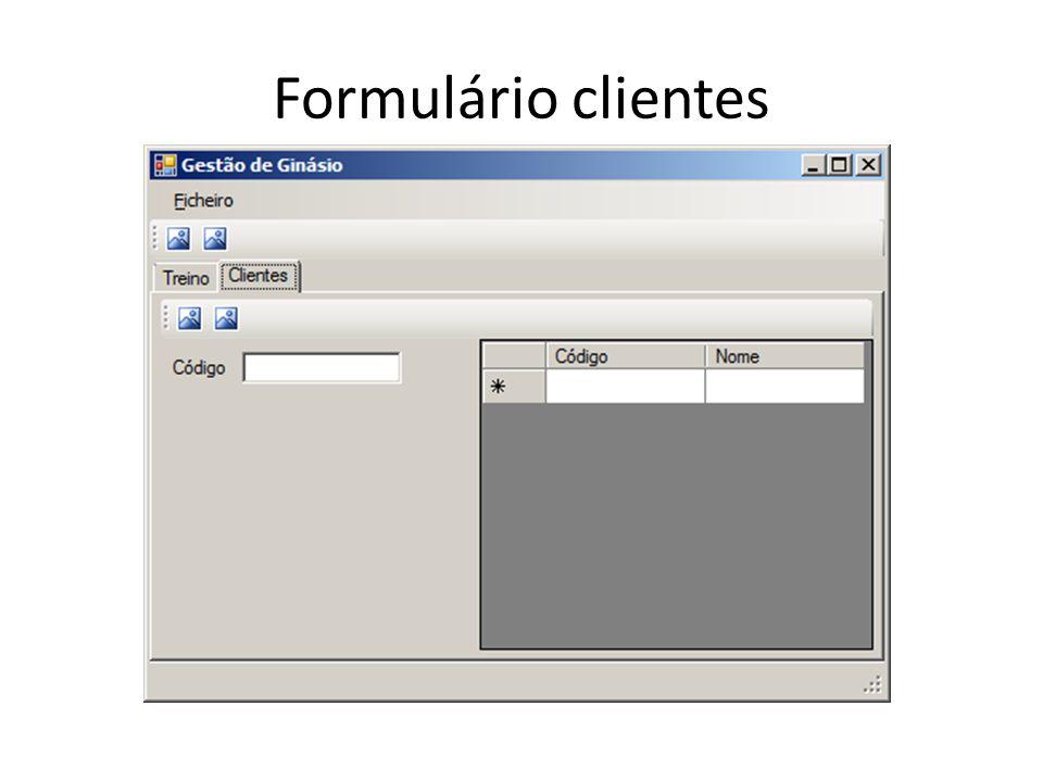 Formulário clientes