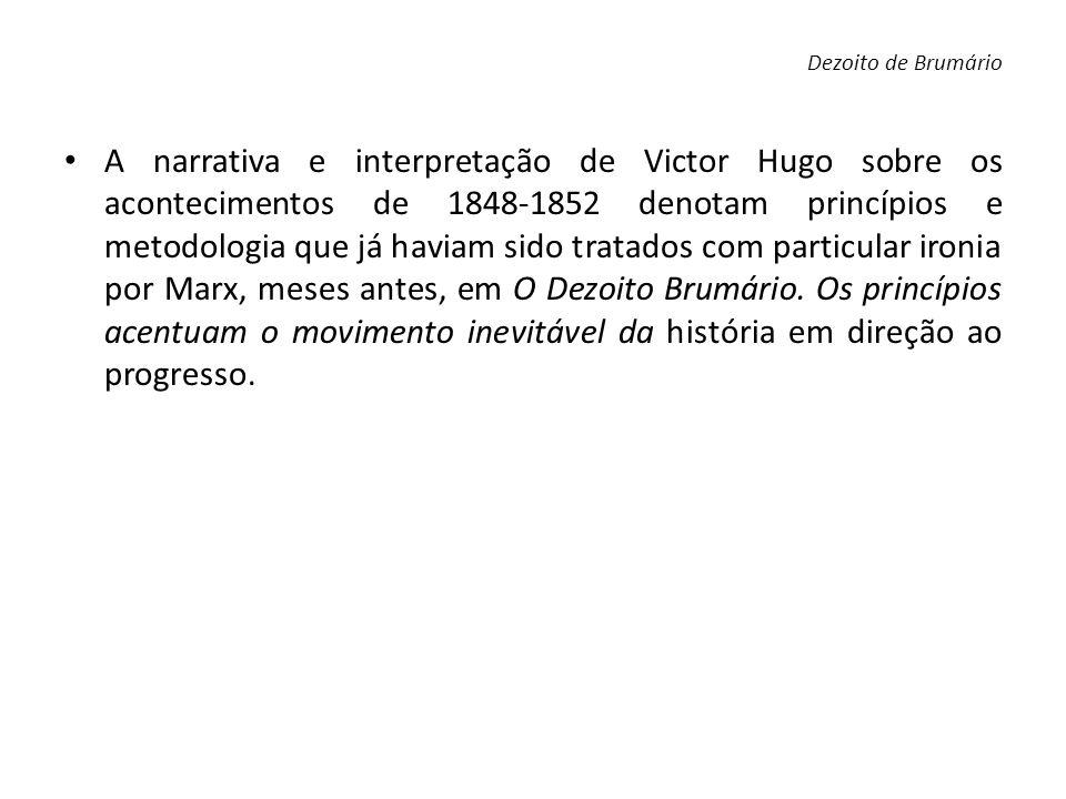 A narrativa e interpretação de Victor Hugo sobre os acontecimentos de 1848-1852 denotam princípios e metodologia que já haviam sido tratados com parti