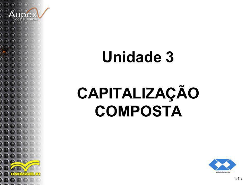 Unidade 3 CAPITALIZAÇÃO COMPOSTA 1/45