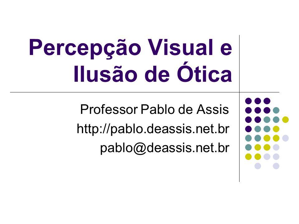 Percepção Visual e Ilusão de Ótica Professor Pablo de Assis http://pablo.deassis.net.br pablo@deassis.net.br
