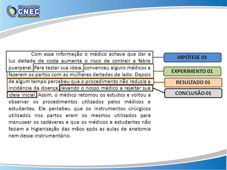 Com essa informação o médico achava que dar a luz deitada de costa aumenta o risco de contrair a febre puerperal.