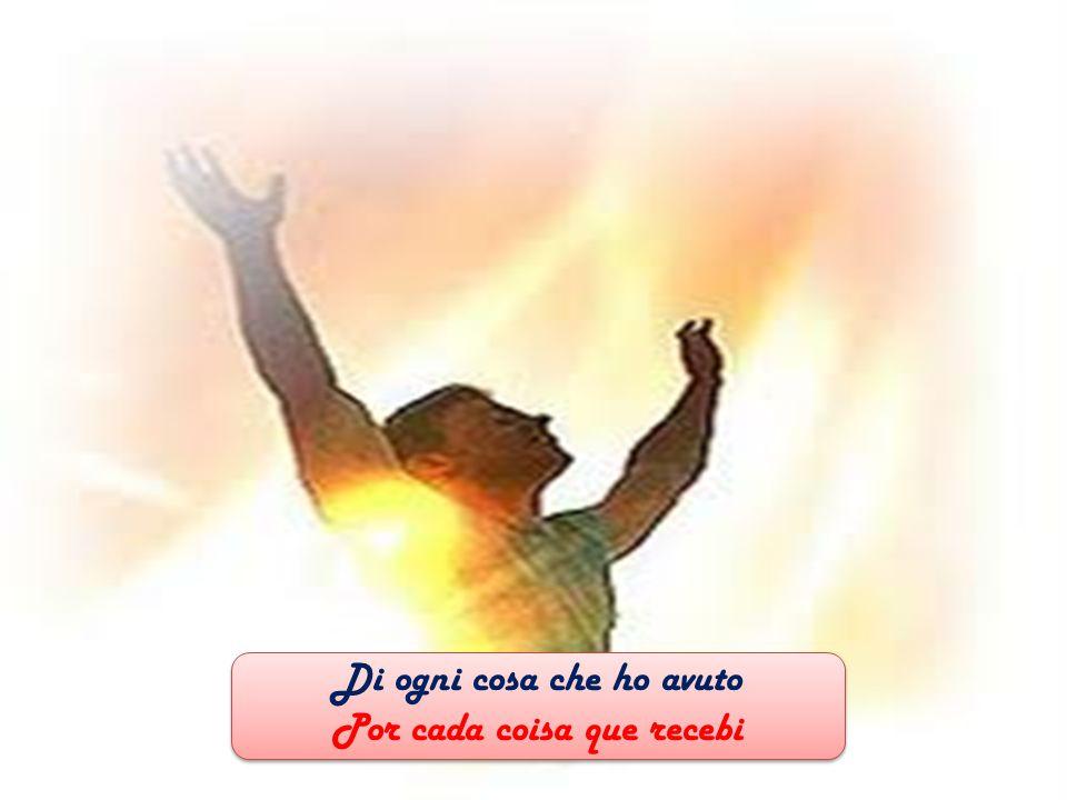 O mio Signore, io ti ringrazio Oh meu Senhor, eu te agradeço O mio Signore, io ti ringrazio Oh meu Senhor, eu te agradeço