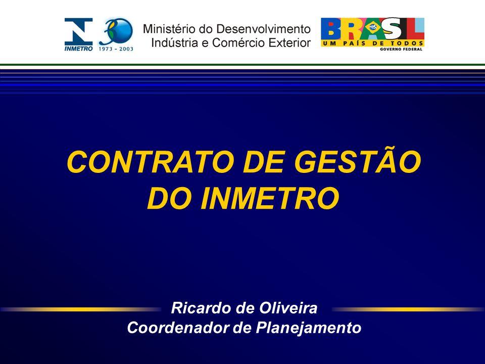 Ricardo de Oliveira Coordenador de Planejamento CONTRATO DE GESTÃO DO INMETRO