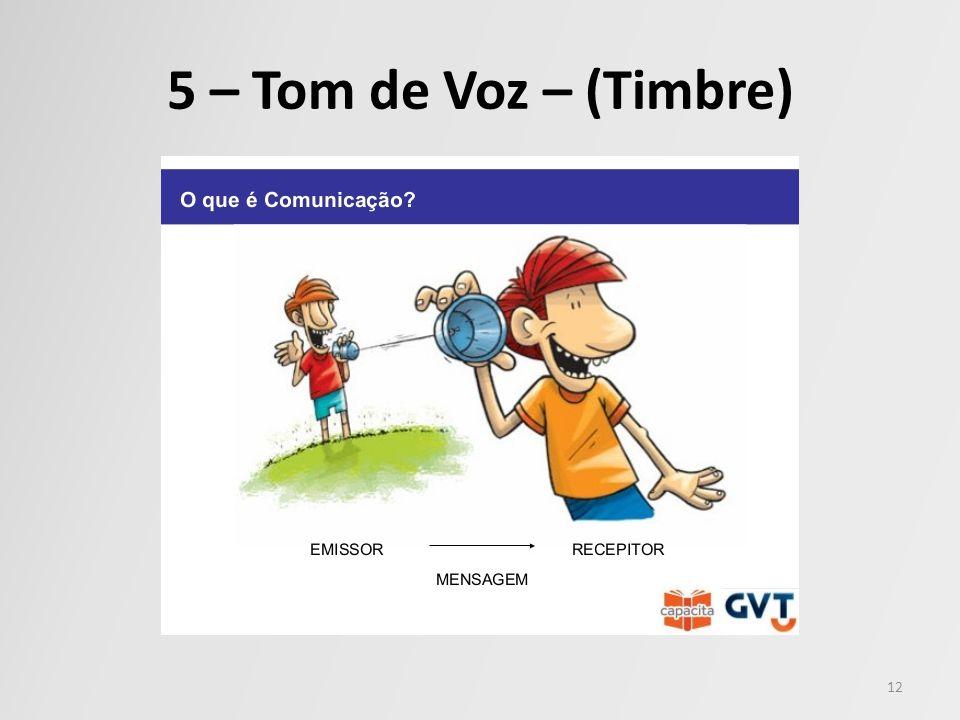 5 – Tom de Voz – (Timbre) 12