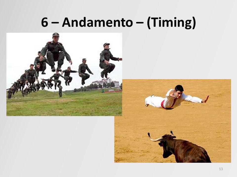 6 – Andamento – (Timing) 13