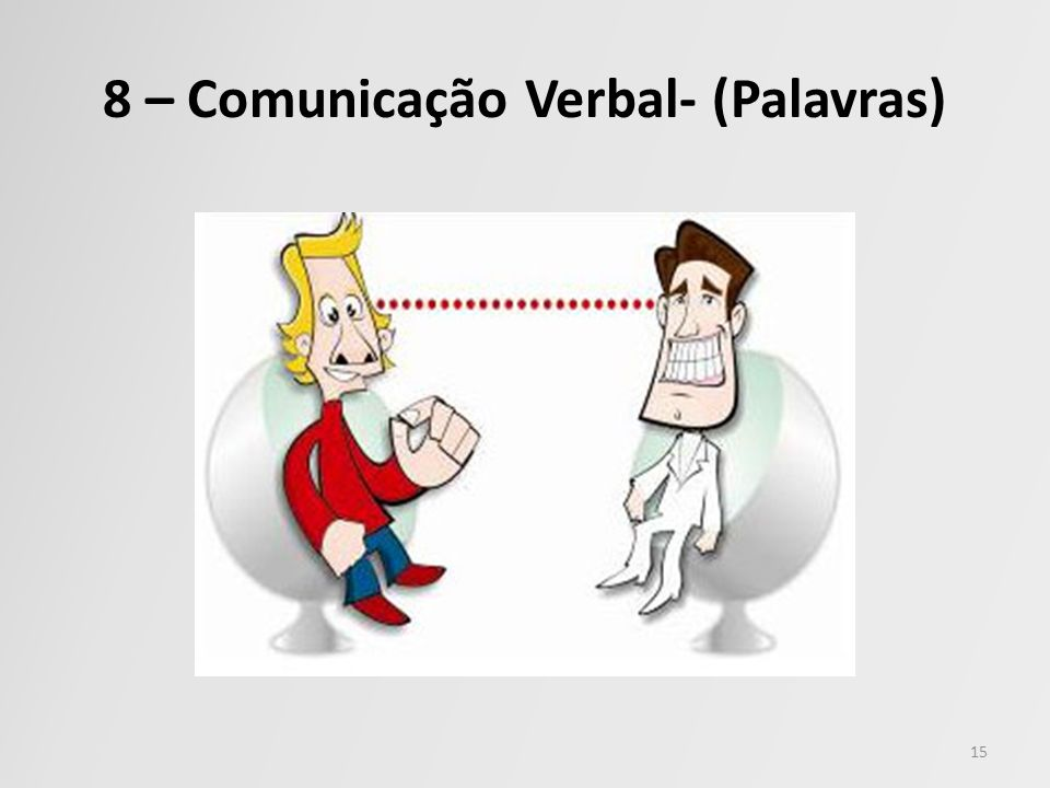 8 – Comunicação Verbal- (Palavras) 15