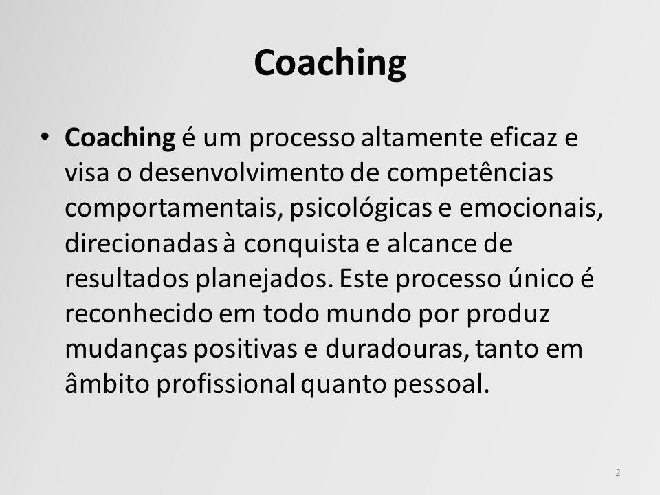 Coaching Coaching é um processo altamente eficaz e visa o desenvolvimento de competências comportamentais, psicológicas e emocionais, direcionadas à c