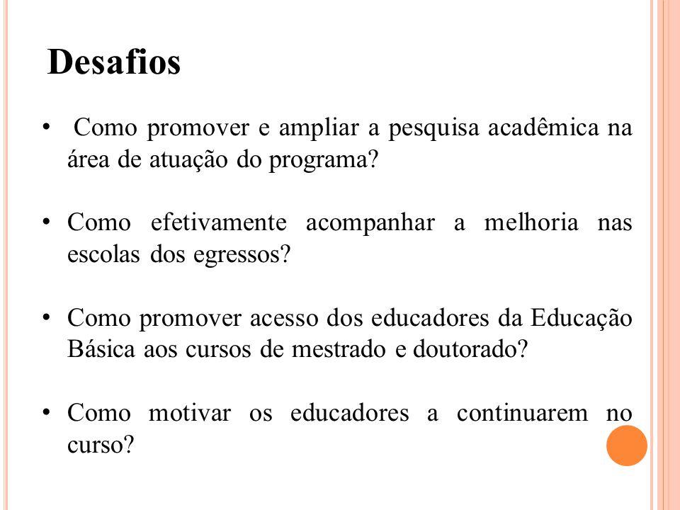 Como promover e ampliar a pesquisa acadêmica na área de atuação do programa.