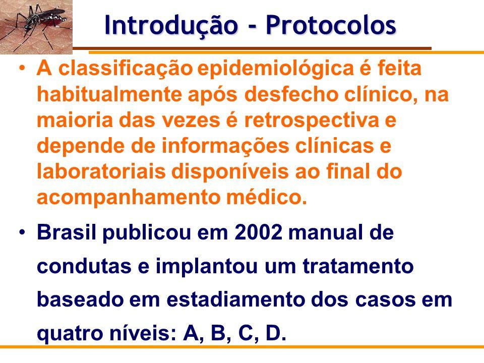 Protocolo para casos suspeitos de dengue, que independe da discussão de classificação final de caso.