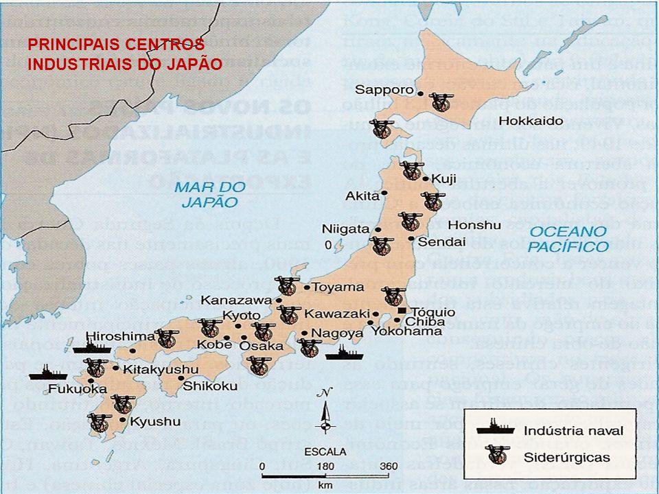 PRINCIPAIS CENTROS INDUSTRIAIS DO JAPÃO
