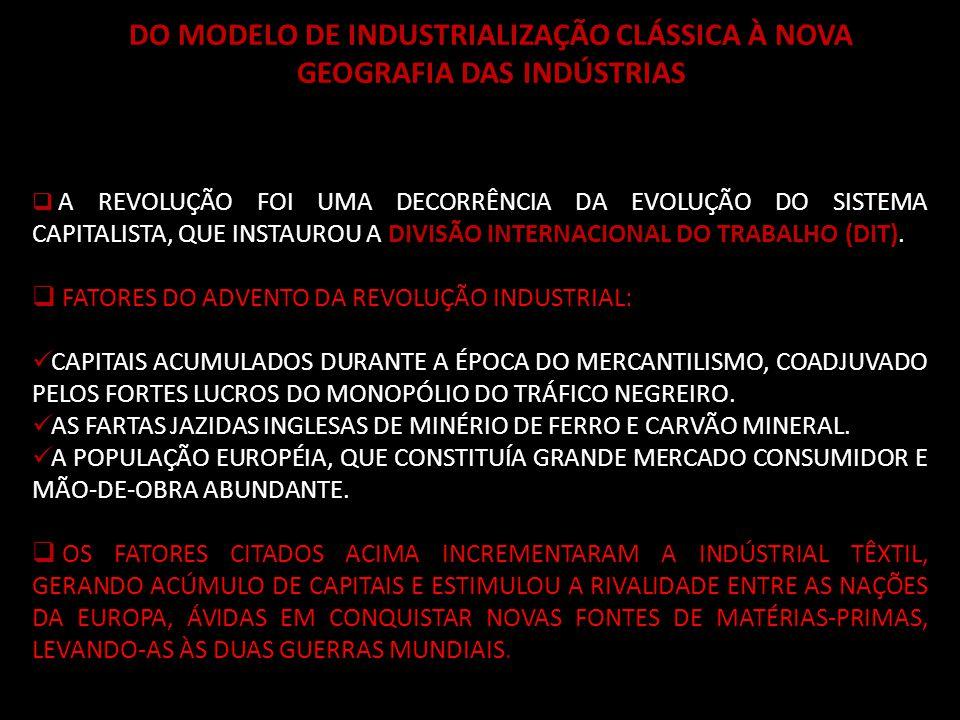 BRASIL, MÉXICO E ARGENTINA: DA SUBSTITUIÇÃO DE IMPORTAÇÕES À INSERÇÃO NO MERCADO GLOBALIZADO INICIARAM SUA INDUSTRIALIZAÇÃO NA PRIMEIRA METADE DO SÉCULO XX, SUBSTITUINDO AS IMPORTAÇÕES DE BENS DE CONSUMO, QUE CHEGAVAM DA EUROPA – ERA O MODELO DE SUBSTITUIÇÃO DE IMPORTAÇÕES.