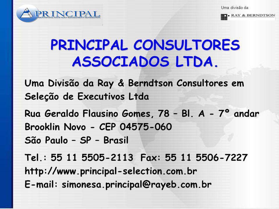 Uma divisão da: PRINCIPAL CONSULTORES ASSOCIADOS LTDA.