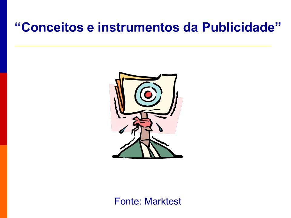 Conceitos e instrumentos da Publicidade Fonte: Marktest