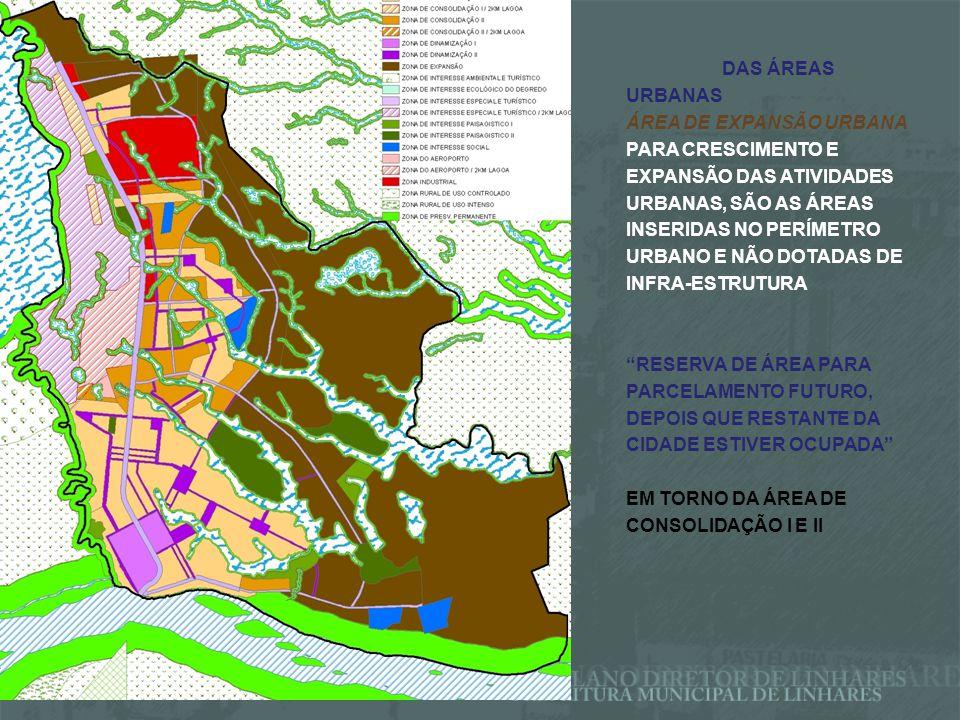 ÁREAS URBANAS ESTRATÉGICAS CORREDORES DE COMÉRCIO E SERVIÇOS BR-101 / VIAS ARTERIAIS FACILITAR CIRCULAÇÃO ORDENAR OCUPAÇÃO TRATAR PONTOS CRÍTICOS ÁREA INDUSTRIAL ATIVIDADES INDUSTRIAIS E PROJETOS URBANÍSTICOS ESPECÍFICOS ÁREAS DE INTERESSE PAISAGISTICO (I E II) I - USO PÚBLICO – PARQUES E EQUIPAMENTOS LAZER E TURISMO II –PARQUES, JARDINS BOTÂNICOS, HORTO FLORESTAIS, CLUBES, ATIVIDADES CULTURAIS, RECREATIVAS, ESPORTIVAS, EDUCACIONAIS E ARTÍSTICAS