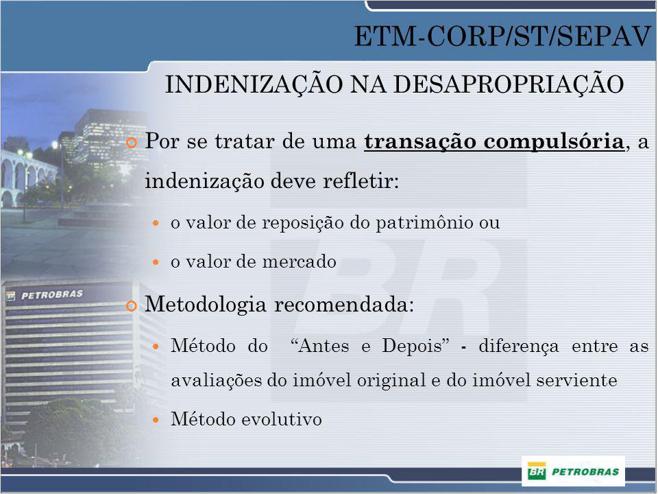 FAIXAS DE SERVIDÃO DE PASSAGEM Faixas de áreas desapropriadas destinadas a construção e passagem de dutos, linhas de transmissão, adutoras, emissários, entre outros.