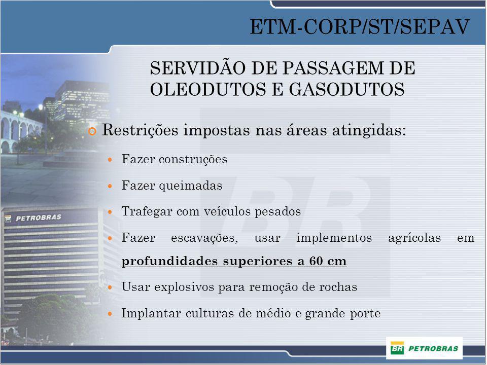 AVALIAÇÃO DAS BENFEITORIAS Residência – Padrão Rústico ETM-CORP/ST/SEPAV