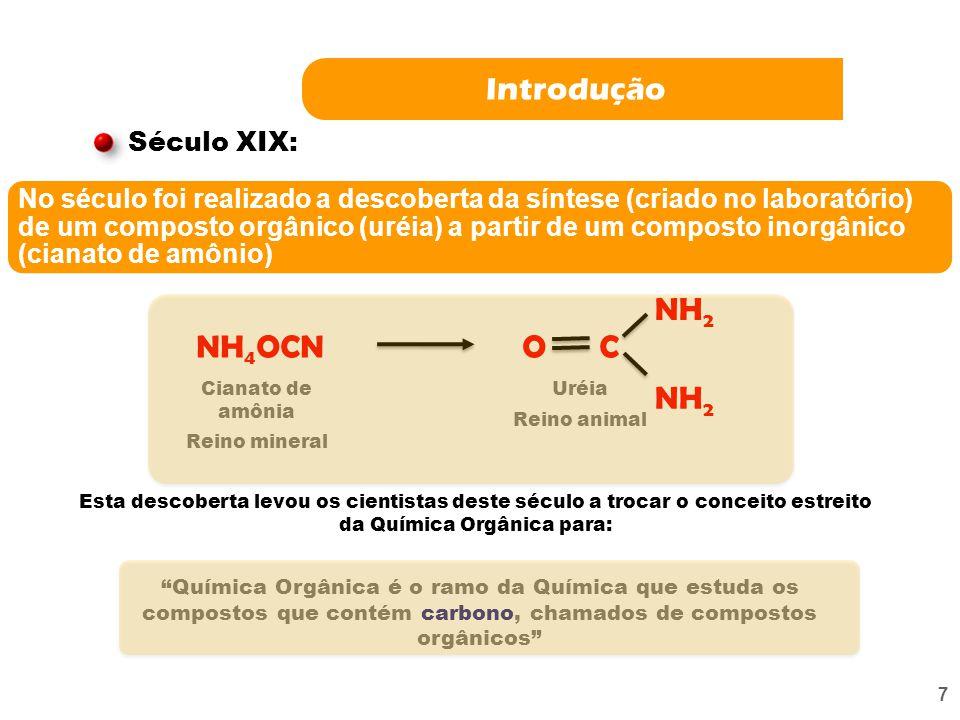 6 Histórico Berzelius Teoria da força vital. Nos organismos vivos, há uma força especial indispensável à síntese dos compostos orgânicos. Por isso, es