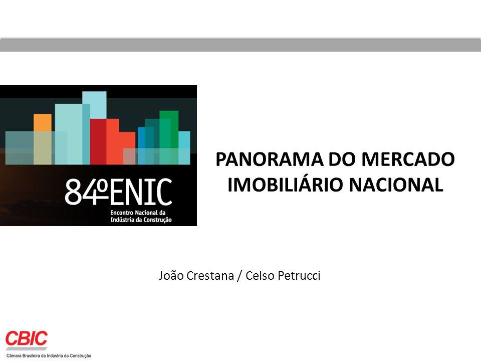 PANORAMA DO MERCADO IMOBILIÁRIO NACIONAL João Crestana / Celso Petrucci