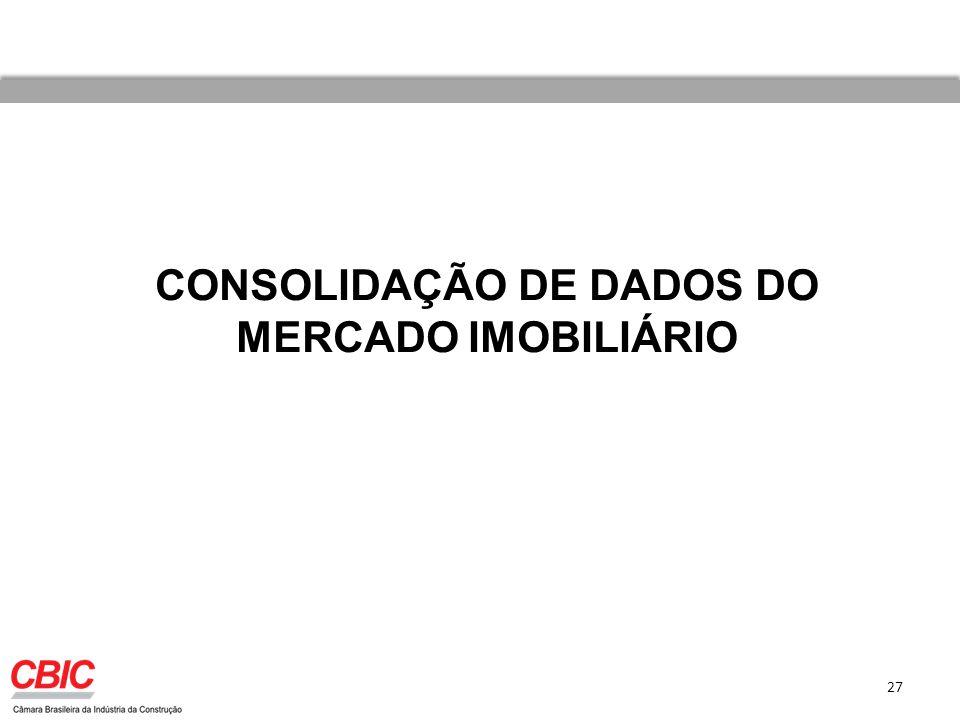 27 CONSOLIDAÇÃO DE DADOS DO MERCADO IMOBILIÁRIO