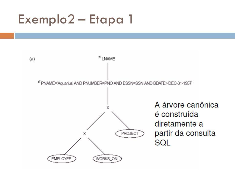 Exemplo2 – Etapa 1