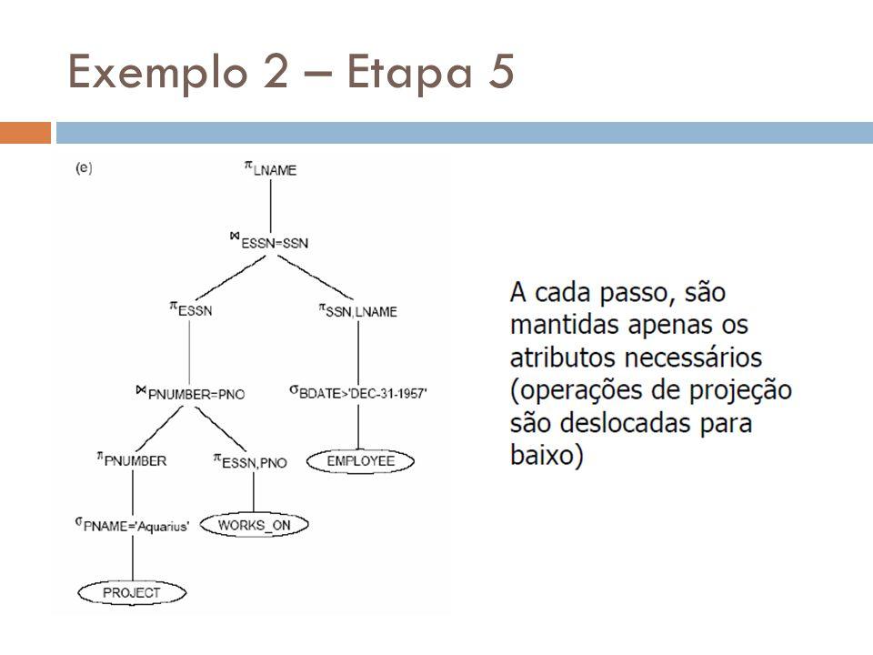 Exemplo 2 – Etapa 5