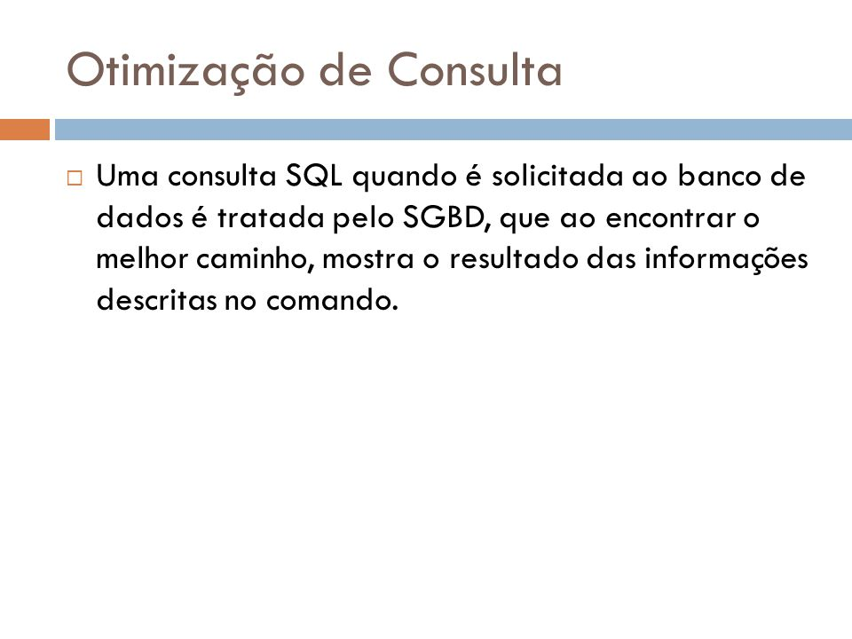 Passos do SGBD
