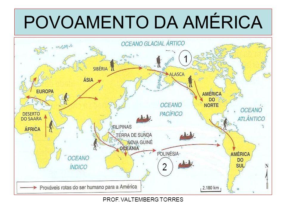 POVOAMENTO DA AMÉRICA PROF. VALTEMBERG TORRES