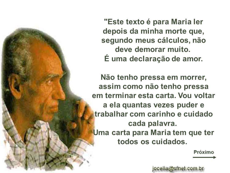 Carta escrita por Herbert de Souza (O Betinho) para sua mulher Maria e lida, um ano após sua morte, pelo ator Jonas Bloch, durante a cerimônia na CCBB