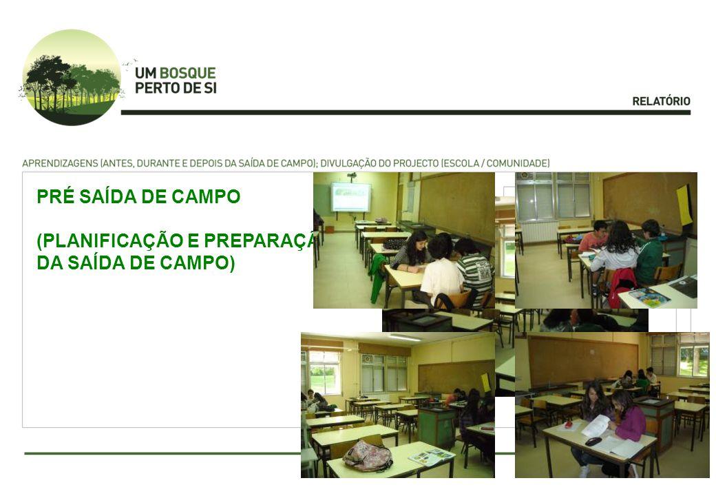 PRÉ SAÍDA DE CAMPO (PLANIFICAÇÃO E PREPARAÇÃO DA SAÍDA DE CAMPO)