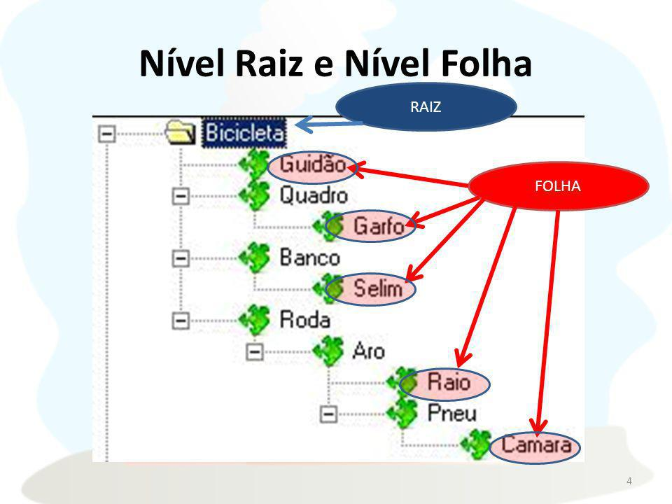 Nível Raiz e Nível Folha 4 FOLHA RAIZ