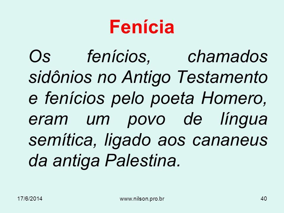 Fenícia 17/6/201439www.nilson.pro.br