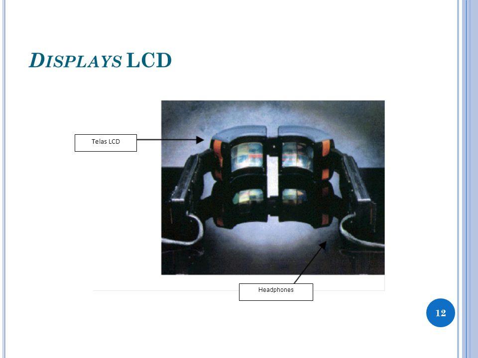 D ISPLAYS LCD Telas LCD Headphones 12