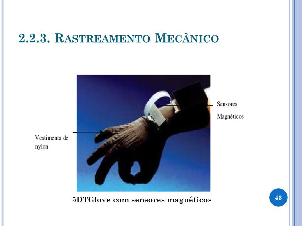 2.2.3. R ASTREAMENTO M ECÂNICO 43 5DTGlove com sensores magnéticos