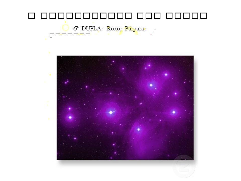 O SIGNIFICADO DAS CORES 6 ª DUPLA : Roxo ; Púrpura ; Magenta