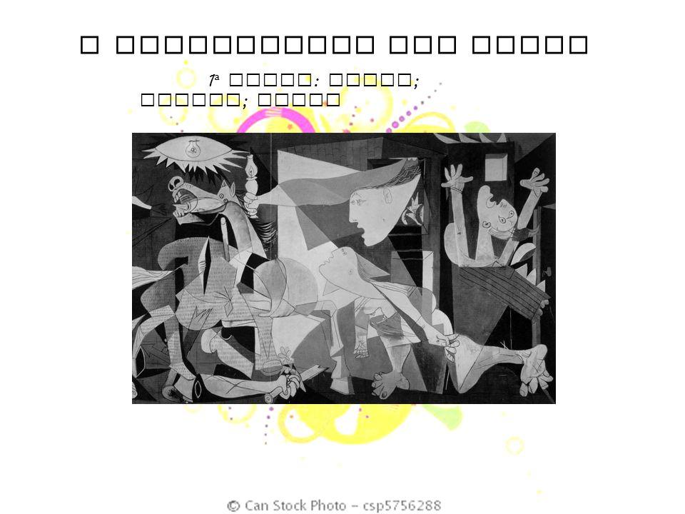 O SIGNIFICADO DAS CORES 1 ª DUPLA : Preto ; branco ; cinza GUERNICA – PABLO PICASSO