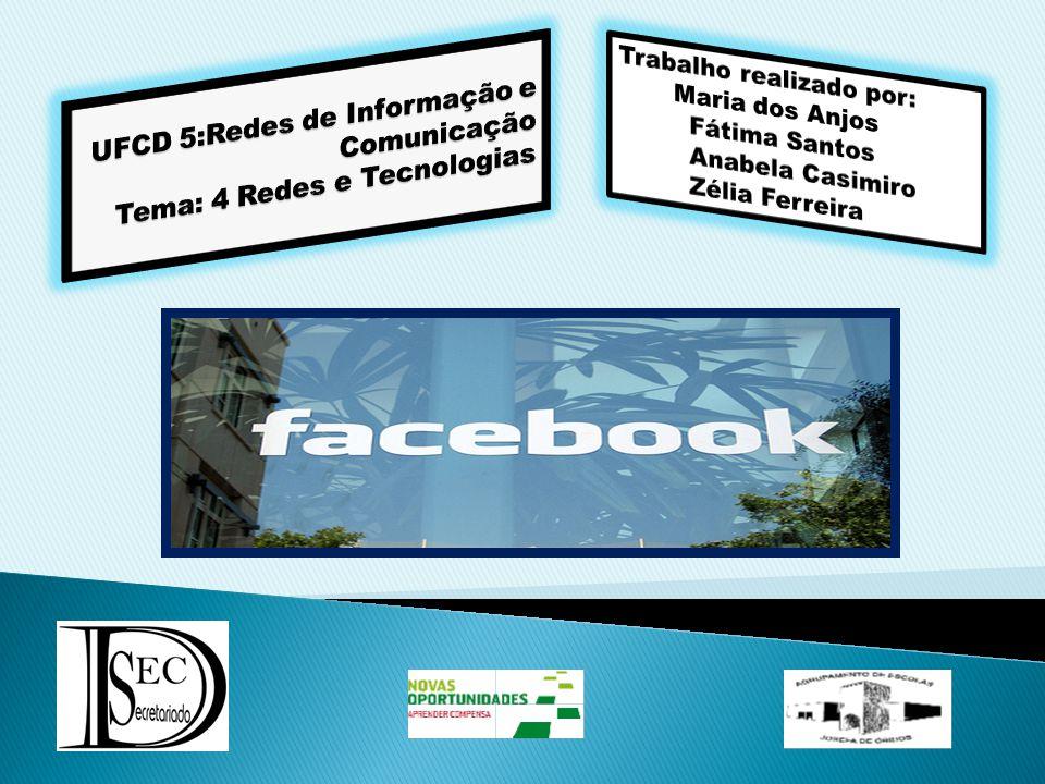 Facebook é um website de relacionamento social lançado em 4 de Fevereiro de 2004.