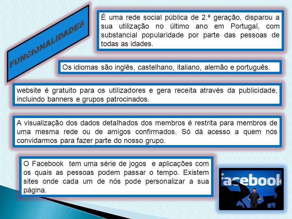 É uma rede social pública de 2.ª geração, disparou a sua utilização no último ano em Portugal, com substancial popularidade por parte das pessoas de t