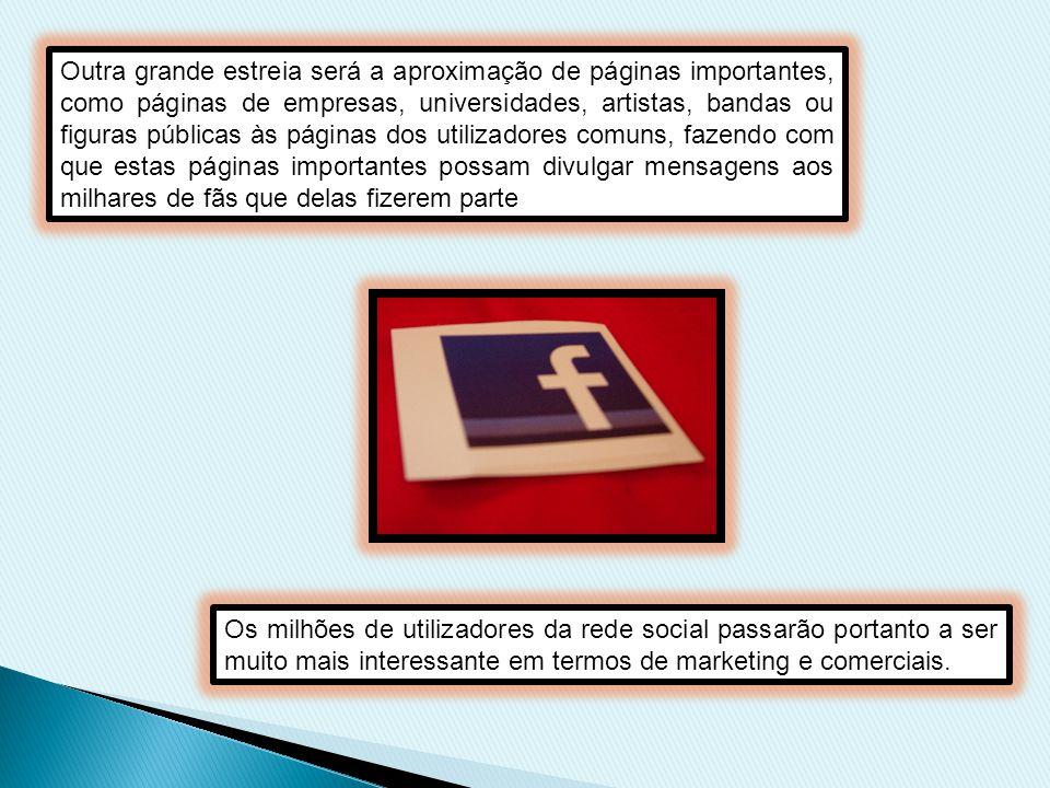 O Facebook é uma montra, em que cada um mostra o que pretende, por isso tornou-se uma ferramenta onde os utilizadores podem ter o seu perfil, ou seja, os seus dados pessoais, as suas fotos, vídeos, links, notas etc.