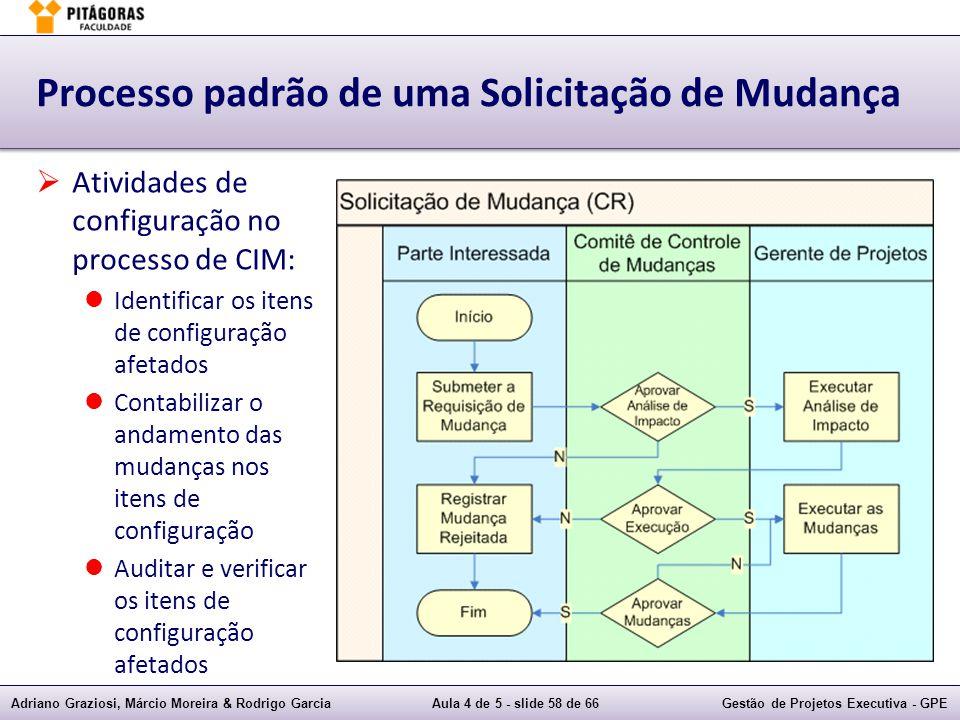 Adriano Graziosi, Márcio Moreira & Rodrigo GarciaAula 4 de 5 - slide 58 de 66Gestão de Projetos Executiva - GPE Processo padrão de uma Solicitação de