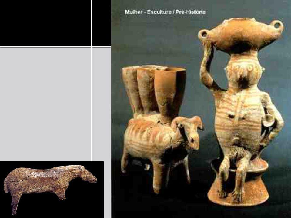 Figuras zoomorfas – representação de animais Antropomorfas – imagens humanas, podendo ser representada isolada ou em grupo Figuras geométricas Predominância da cor vermelha, podendo também ter o amarelo, o branco e o preto