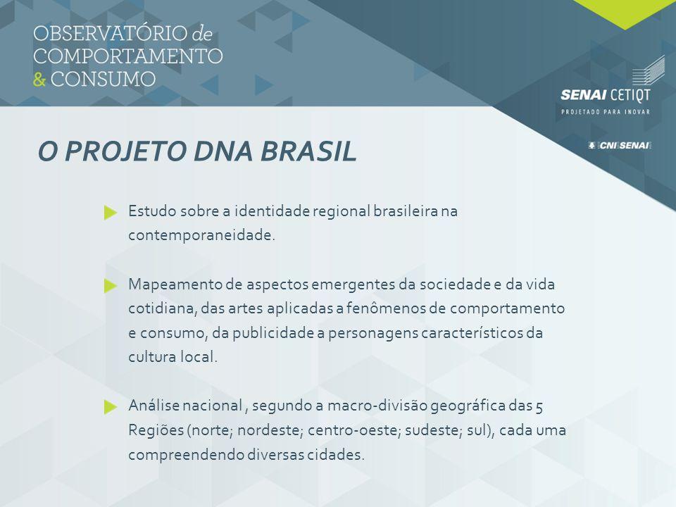 O PROJETO DNA BRASIL Estudo sobre a identidade regional brasileira na contemporaneidade. Mapeamento de aspectos emergentes da sociedade e da vida coti
