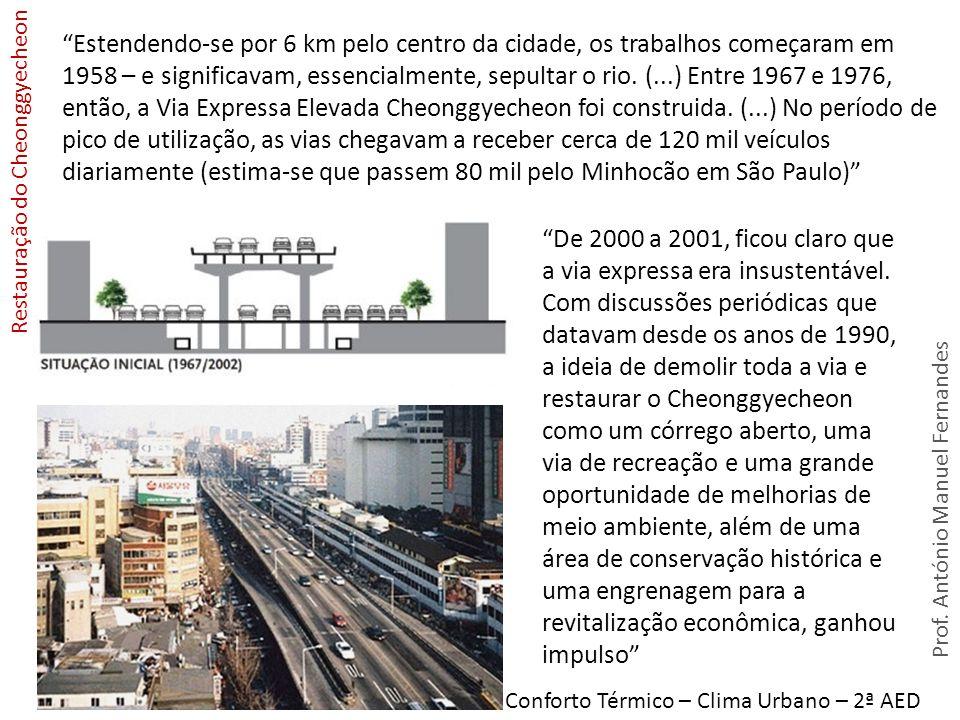 Conforto Térmico – Clima Urbano – 2ª AED Estendendo-se por 6 km pelo centro da cidade, os trabalhos começaram em 1958 – e significavam, essencialmente